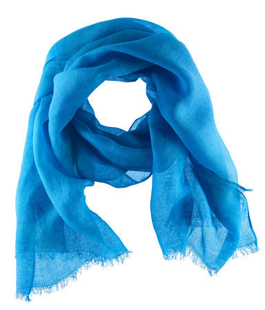 Scarf - predominant colour: diva blue; occasions: casual, evening, work, holiday; type of pattern: standard; style: regular; size: standard; material: fabric; embellishment: fringing; pattern: plain; trends: fluorescent; season: s/s 2013