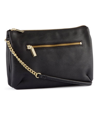 Shoulder Bag - predominant colour: black; occasions: casual, creative work; type of pattern: standard; style: shoulder; length: handle; size: standard; material: faux leather; pattern: plain; finish: plain; season: s/s 2013