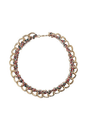 Floral Wrap Collar - predominant colour: gold; occasions: casual, evening, work, occasion, holiday; style: choker/collar/torque; length: short; size: standard; material: chain/metal; finish: metallic; embellishment: chain/metal; season: s/s 2013