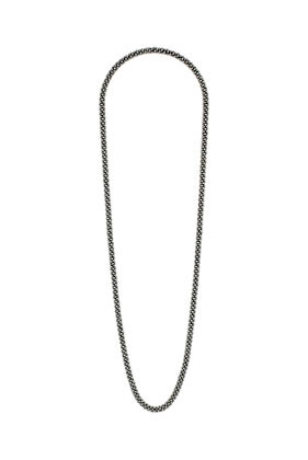 Extra Long Ball Station Necklace - predominant colour: silver; occasions: casual, evening, work, occasion, holiday; length: long; size: standard; material: chain/metal; finish: metallic; embellishment: chain/metal; season: s/s 2013; style: chain (no pendant)