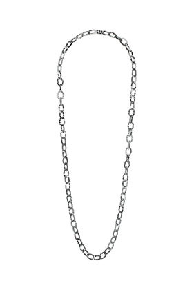 Zebra Long Chain - predominant colour: black; occasions: casual, evening, work, holiday; length: long; size: standard; material: chain/metal; finish: metallic; embellishment: chain/metal; season: s/s 2013; style: chain (no pendant)