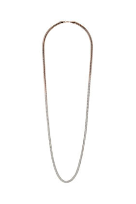 Ombre Snake Chain Necklace - predominant colour: silver; occasions: casual, evening, work, occasion; length: long; size: standard; material: chain/metal; finish: metallic; embellishment: chain/metal; season: s/s 2013; style: chain (no pendant)