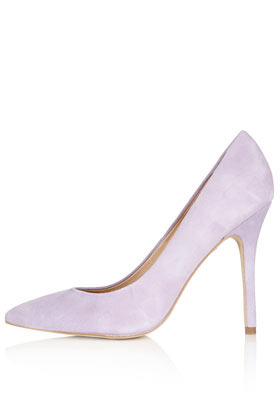 Gwenda Pointed Courts - predominant colour: lilac; occasions: casual, evening, work, occasion; material: suede; heel height: high; heel: stiletto; toe: pointed toe; style: courts; finish: plain; pattern: plain; season: s/s 2013
