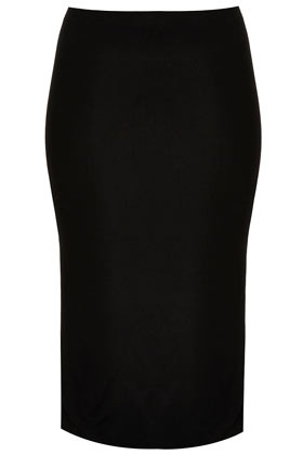 Black Double Layer Tube Skirt - pattern: plain; fit: tight; waist detail: fitted waist; hip detail: fitted at hip; waist: mid/regular rise; predominant colour: black; occasions: casual, evening, work; length: on the knee; fibres: polyester/polyamide - stretch; style: tube; pattern type: fabric; texture group: jersey - stretchy/drapey; season: s/s 2013