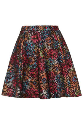 Multi Lace Skater Skirt - length: mid thigh; style: full/prom skirt; fit: loose/voluminous; waist: high rise; occasions: casual, evening, holiday; fibres: polyester/polyamide - 100%; hip detail: subtle/flattering hip detail; waist detail: feature waist detail; predominant colour: multicoloured; texture group: lace; trends: statement prints, volume; pattern type: fabric; pattern: patterned/print; season: s/s 2013; pattern size: big & busy (bottom); multicoloured: multicoloured
