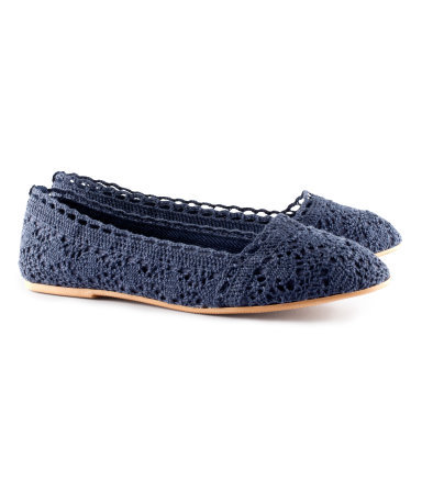 Ballet Pumps - predominant colour: navy; occasions: casual, holiday; material: fabric; heel height: flat; toe: round toe; style: ballerinas / pumps; finish: plain; pattern: plain; season: s/s 2013