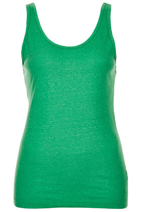 Basic Vest - sleeve style: standard vest straps/shoulder straps; pattern: plain; back detail: cowl/draping/scoop at back, back revealing; style: vest top; predominant colour: emerald green; occasions: casual, holiday; length: standard; neckline: scoop; fibres: polyester/polyamide - mix; fit: body skimming; sleeve length: sleeveless; pattern type: fabric; pattern size: standard; texture group: jersey - stretchy/drapey; season: s/s 2013