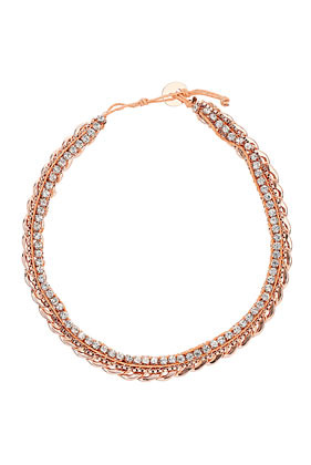 Premium Chain Rhinestone Collar - predominant colour: gold; occasions: casual, evening, work, occasion, holiday; length: short; size: standard; material: chain/metal; finish: metallic; style: bib/statement; season: s/s 2013