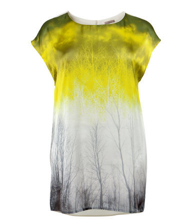 + Tunic - neckline: round neck; sleeve style: dolman/batwing; length: below the bottom; style: tunic; pattern: tie dye; predominant colour: yellow; occasions: casual, evening; fibres: polyester/polyamide - 100%; fit: loose; sleeve length: short sleeve; pattern type: fabric; pattern size: standard; texture group: jersey - stretchy/drapey; season: s/s 2013