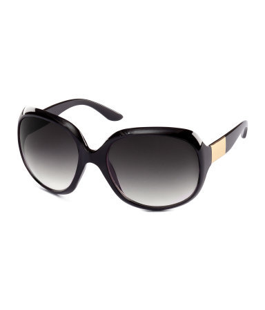 Sunglasses - predominant colour: black; occasions: casual, holiday; style: square; size: large; material: plastic/rubber; pattern: plain; finish: plain; season: s/s 2013