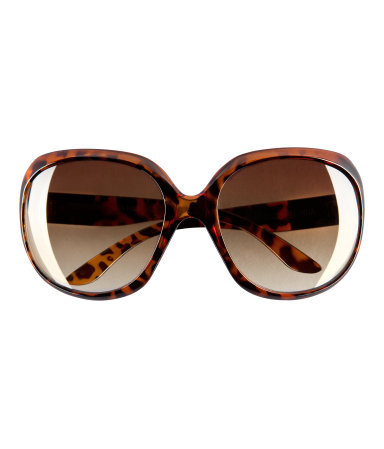 Sunglasses - predominant colour: chocolate brown; occasions: casual, holiday; style: square; size: large; material: plastic/rubber; pattern: animal print, tortoiseshell; finish: plain; season: s/s 2013
