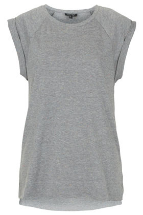 High Roller Tank Top - sleeve style: capped; pattern: plain; length: below the bottom; style: t-shirt; predominant colour: light grey; occasions: casual; fibres: polyester/polyamide - mix; fit: body skimming; neckline: crew; sleeve length: short sleeve; pattern type: fabric; pattern size: standard; texture group: jersey - stretchy/drapey; season: s/s 2013