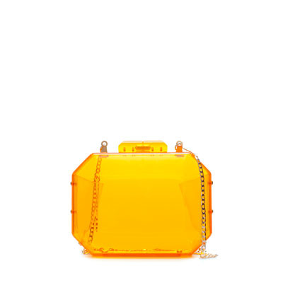 Neon MinaudiÉre - predominant colour: bright orange; occasions: evening, occasion; style: clutch; length: hand carry; size: mini; material: plastic/rubber; pattern: plain; trends: fluorescent; finish: plain; season: s/s 2013