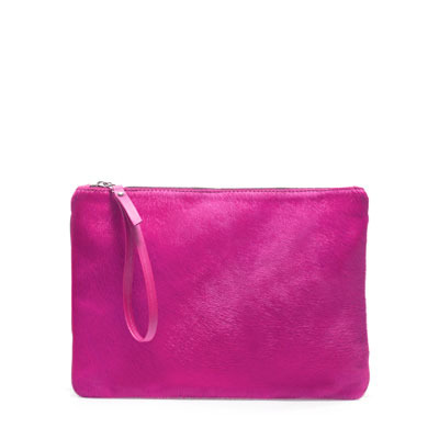 Color Block Clutch Bag - predominant colour: hot pink; occasions: casual, evening, occasion, holiday; type of pattern: standard; style: grab bag; length: hand carry; size: standard; material: leather; embellishment: zips; pattern: plain; finish: plain; season: s/s 2013
