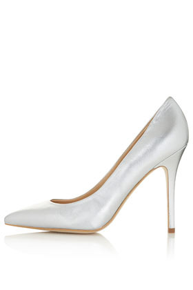 Gwenda Pointed Courts - predominant colour: silver; occasions: casual, evening, occasion; material: leather; heel height: high; heel: stiletto; toe: pointed toe; style: courts; trends: metallics; finish: metallic; pattern: plain; season: s/s 2013