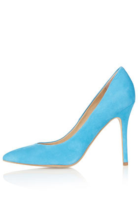 Gwenda Pointed Courts - predominant colour: diva blue; occasions: casual, evening, work, occasion; material: suede; heel height: high; heel: stiletto; toe: pointed toe; style: courts; trends: fluorescent; finish: plain; pattern: plain; season: s/s 2013