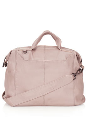 Washed Gladstone Holdall - predominant colour: blush; occasions: casual; type of pattern: standard; style: bowling; length: handle; size: standard; material: leather; pattern: plain; finish: plain; season: s/s 2013