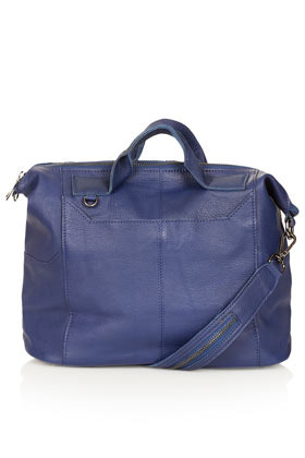 Washed Gladstone Holdall - predominant colour: navy; occasions: casual; type of pattern: standard; style: bowling; length: handle; size: standard; material: leather; pattern: plain; finish: plain; season: s/s 2013