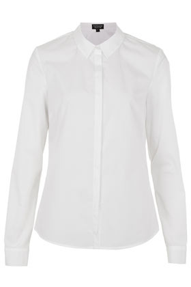 Formal Clean Structured Shirt - neckline: shirt collar/peter pan/zip with opening; pattern: plain; style: shirt; predominant colour: white; occasions: casual, work; length: standard; fibres: cotton - 100%; fit: tailored/fitted; sleeve length: long sleeve; sleeve style: standard; texture group: cotton feel fabrics; pattern type: fabric; season: s/s 2013