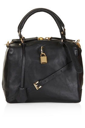 Mini Sienna Padlock Bag - predominant colour: black; occasions: casual, creative work; type of pattern: standard; style: tote; length: handle; size: small; material: leather; pattern: plain; finish: plain; season: s/s 2013