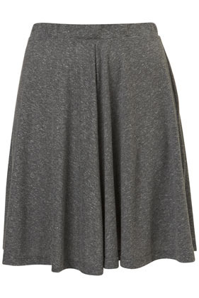 Tall Speckled Skater Skirt - pattern: plain; fit: body skimming; waist detail: elasticated waist; waist: mid/regular rise; predominant colour: charcoal; occasions: casual, work; length: just above the knee; style: fit & flare; fibres: polyester/polyamide - mix; hip detail: subtle/flattering hip detail; pattern type: fabric; texture group: jersey - stretchy/drapey; season: s/s 2013; wardrobe: basic