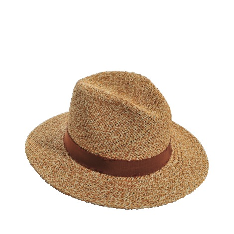 Large Hat - secondary colour: chocolate brown; predominant colour: camel; occasions: casual, holiday; type of pattern: standard; embellishment: ribbon; style: sunhat; size: standard; material: macrame/raffia/straw; pattern: plain; season: s/s 2013