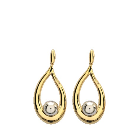 Annabel Earrings - secondary colour: silver; predominant colour: gold; occasions: evening, occasion; style: drop; length: long; size: large/oversized; material: chain/metal; fastening: pierced; finish: metallic; season: s/s 2013