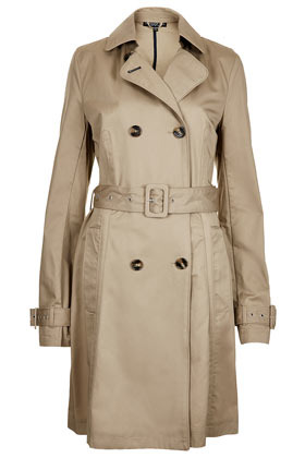 Tall Unlined Seamed Trench Coat - pattern: plain; bust detail: added detail/embellishment at bust; style: mac; length: on the knee; collar: standard lapel/rever collar; predominant colour: stone; occasions: casual, evening, work, occasion; fit: tailored/fitted; fibres: cotton - 100%; waist detail: belted waist/tie at waist/drawstring; back detail: back vent/flap at back; sleeve length: long sleeve; sleeve style: standard; collar break: medium; pattern type: fabric; texture group: other - light to midweight; season: s/s 2013; hip detail: front pockets at hip