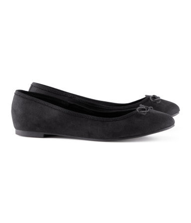 Ballet Pumps - predominant colour: black; occasions: casual, evening, work, holiday; material: fabric; heel height: flat; toe: round toe; style: ballerinas / pumps; finish: plain; pattern: plain; embellishment: bow; season: s/s 2013