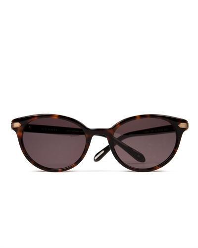Ted Baker Surina Cat Eye Sunglasses - predominant colour: chocolate brown; secondary colour: camel; occasions: casual, holiday; style: cateye; size: standard; material: plastic/rubber; pattern: tortoiseshell; finish: plain; season: s/s 2013