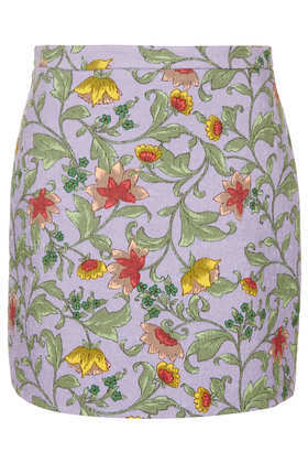 Quilted Floral Skirt Boutique - length: mini; fit: tailored/fitted; waist: high rise; predominant colour: lilac; occasions: casual, occasion, holiday; style: mini skirt; fibres: cotton - mix; texture group: cotton feel fabrics; pattern type: fabric; pattern: florals; embellishment: quilted; season: s/s 2013; pattern size: standard (bottom); wardrobe: highlight; embellishment location: all over