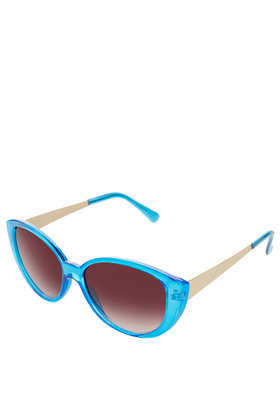 Chunky Cateye Sunglasses - predominant colour: turquoise; secondary colour: gold; occasions: casual, holiday; style: cateye; size: standard; material: plastic/rubber; finish: plain; pattern: colourblock; season: s/s 2013