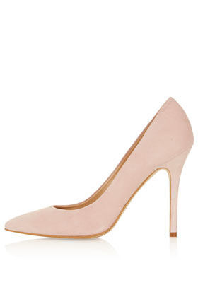 Gwenda Pointed Courts - predominant colour: blush; occasions: evening, work, occasion; material: suede; heel height: high; heel: stiletto; toe: pointed toe; style: courts; finish: plain; pattern: plain; season: s/s 2013