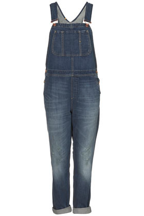 Moto Full Length Dungaree - sleeve style: standard vest straps/shoulder straps; fit: loose; pattern: plain; predominant colour: navy; occasions: casual; length: ankle length; fibres: cotton - 100%; jeans & bottoms detail: turn ups; sleeve length: sleeveless; texture group: denim; style: dungarees; neckline: low square neck; bust detail: dungaree top; pattern type: fabric; pattern size: standard; season: s/s 2013