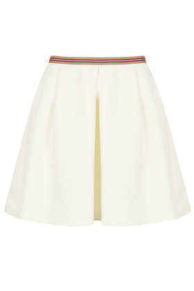Textured Pleat Full Skirt - length: mid thigh; pattern: plain; style: full/prom skirt; fit: loose/voluminous; waist: mid/regular rise; predominant colour: white; occasions: casual, evening, occasion, holiday; fibres: polyester/polyamide - 100%; hip detail: adds bulk at the hips; waist detail: feature waist detail; texture group: ornate wovens; trends: volume; pattern type: fabric; season: s/s 2013
