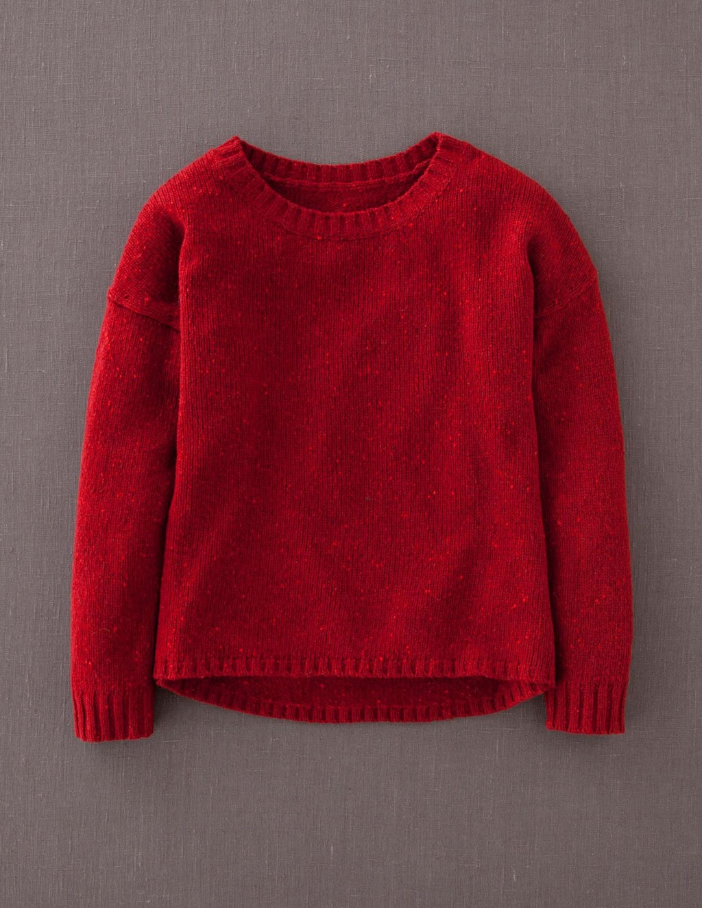Skye Jumper - pattern: plain; style: standard; predominant colour: true red; occasions: casual; length: standard; fibres: wool - mix; fit: standard fit; neckline: crew; sleeve length: long sleeve; sleeve style: standard; texture group: knits/crochet; pattern type: knitted - fine stitch; season: a/w 2013
