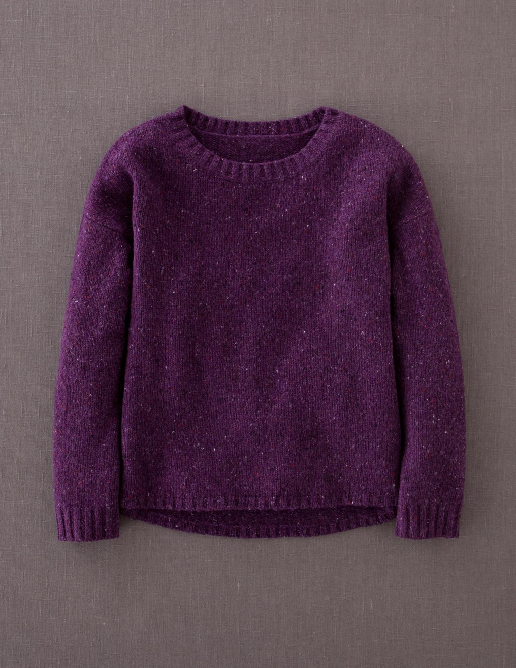 Skye Jumper - pattern: plain; style: standard; predominant colour: aubergine; occasions: casual; length: standard; fibres: wool - mix; fit: standard fit; neckline: crew; sleeve length: long sleeve; sleeve style: standard; texture group: knits/crochet; pattern type: knitted - fine stitch; season: a/w 2013
