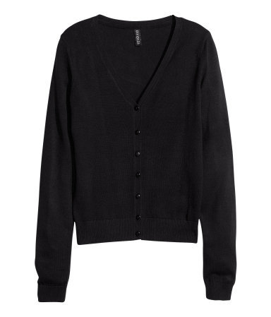 Fine Knit Cardigan - neckline: low v-neck; pattern: plain; predominant colour: black; occasions: casual, work; length: standard; style: standard; fibres: cotton - mix; fit: standard fit; sleeve length: long sleeve; sleeve style: standard; texture group: knits/crochet; season: s/s 2013