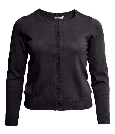 + Cardigan - neckline: round neck; pattern: plain; predominant colour: black; occasions: casual, work; length: standard; style: standard; fibres: cotton - mix; fit: slim fit; sleeve length: long sleeve; sleeve style: standard; texture group: knits/crochet; season: s/s 2013