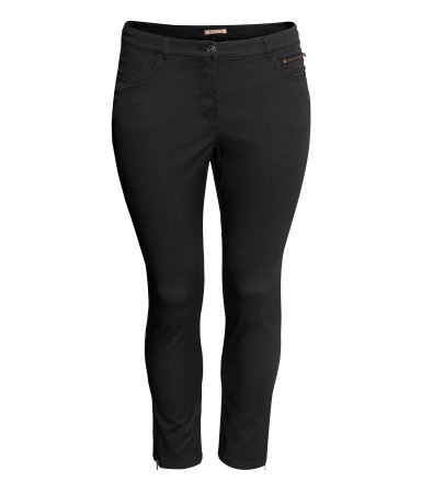 + Ankle Length Trousers - pattern: plain; pocket detail: traditional 5 pocket; waist: mid/regular rise; predominant colour: black; occasions: casual, evening; length: ankle length; fibres: cotton - stretch; texture group: cotton feel fabrics; fit: skinny/tight leg; style: standard; season: s/s 2013