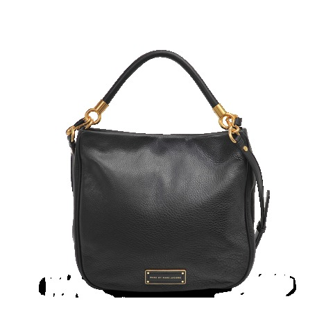 Hobo Bag - secondary colour: gold; predominant colour: black; occasions: casual, creative work; type of pattern: standard; length: handle; size: standard; material: leather; pattern: plain; finish: plain; style: hobo; season: s/s 2013