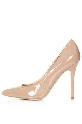 Gwenda Pointed Court Shoes - predominant colour: nude; occasions: evening, work, occasion; material: leather; heel height: high; heel: stiletto; toe: pointed toe; style: courts; finish: patent; pattern: plain; season: s/s 2013