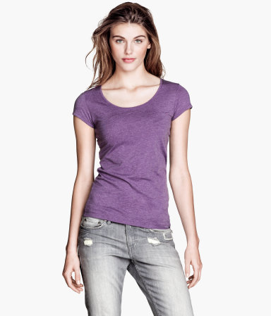 2 Pack Tops - sleeve style: capped; pattern: plain; style: t-shirt; predominant colour: purple; occasions: casual; length: standard; neckline: scoop; fibres: cotton - 100%; fit: body skimming; sleeve length: short sleeve; pattern type: fabric; texture group: jersey - stretchy/drapey; season: s/s 2013