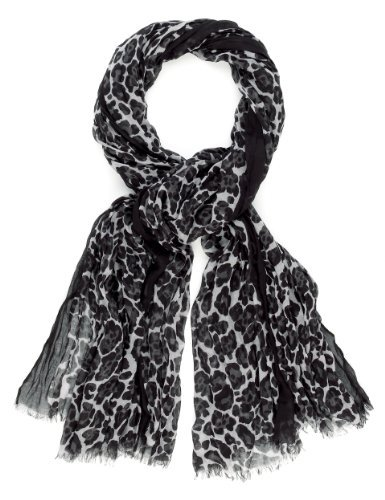 Limited Edition Lightweight Animal Print Scarf - secondary colour: charcoal; predominant colour: black; occasions: casual, work; type of pattern: standard; style: regular; size: standard; material: fabric; pattern: animal print; season: s/s 2013