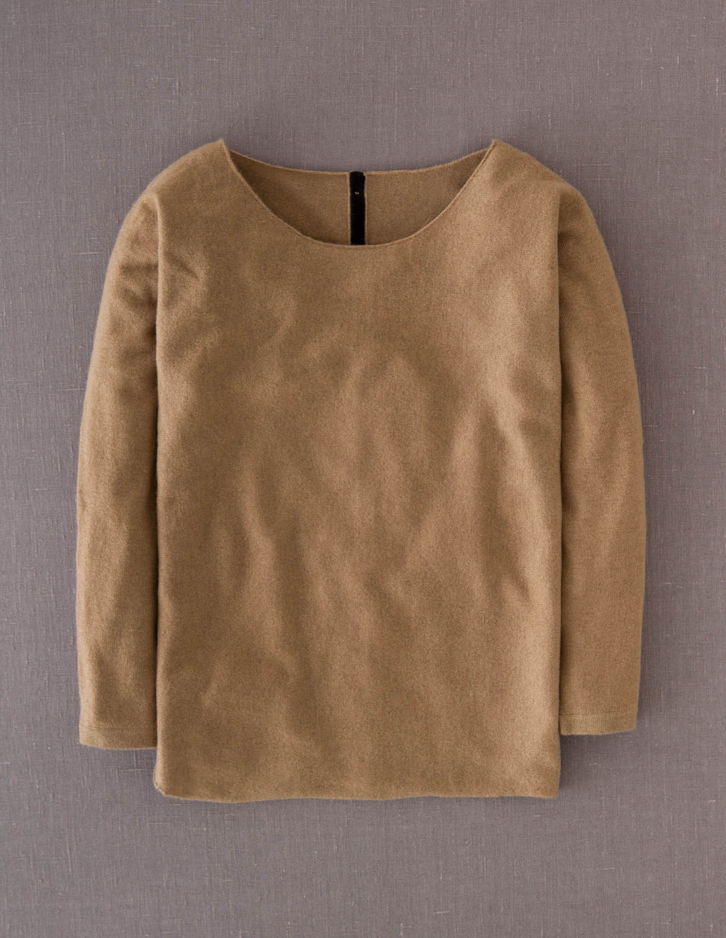 Cashmere Button Back Jumper - neckline: round neck; pattern: plain; style: standard; predominant colour: camel; occasions: casual, work; length: standard; fit: standard fit; fibres: cashmere - 100%; sleeve length: long sleeve; sleeve style: standard; texture group: knits/crochet; pattern type: knitted - fine stitch; season: a/w 2013