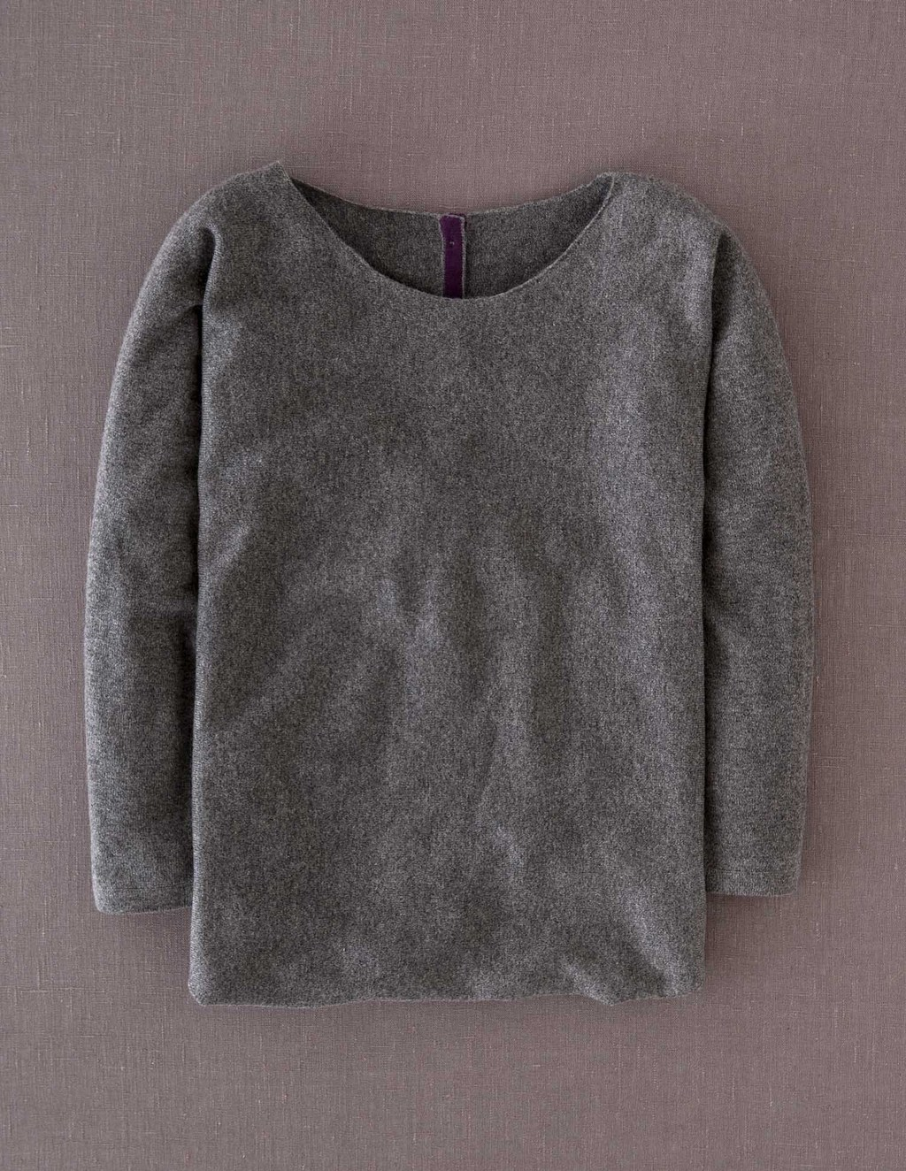 Cashmere Button Back Jumper - neckline: round neck; pattern: plain; style: standard; predominant colour: mid grey; occasions: casual; length: standard; fit: standard fit; fibres: cashmere - 100%; sleeve length: long sleeve; sleeve style: standard; texture group: knits/crochet; pattern type: knitted - fine stitch; pattern size: standard; season: a/w 2013