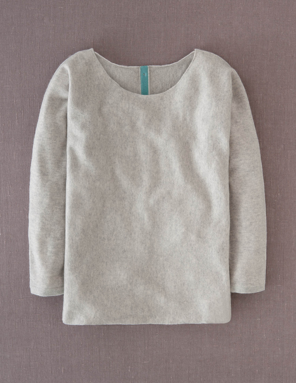 Cashmere Button Back Jumper - neckline: round neck; pattern: plain; style: standard; predominant colour: light grey; occasions: casual; length: standard; fit: standard fit; fibres: cashmere - 100%; sleeve length: long sleeve; sleeve style: standard; texture group: knits/crochet; pattern type: knitted - fine stitch; pattern size: standard; season: a/w 2013