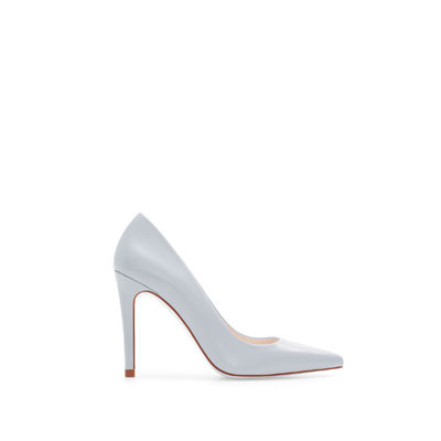 Leather Court Shoe - predominant colour: pale blue; occasions: casual, evening, work, occasion; material: leather; heel height: high; heel: stiletto; toe: pointed toe; style: courts; finish: plain; pattern: plain; season: s/s 2013