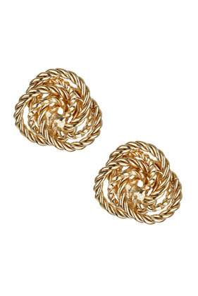 Rope Knot Studs - predominant colour: gold; occasions: casual, evening, work; style: stud; length: short; size: small/fine; material: chain/metal; fastening: pierced; finish: plain; season: s/s 2013