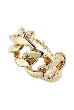Curb Chain Bracelet - predominant colour: gold; occasions: casual, evening, work, occasion, holiday; style: chain; size: large/oversized; material: chain/metal; finish: plain; trends: gorgeous grunge; season: s/s 2013